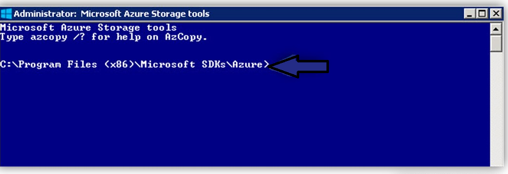 Run Windows Azure Storage Tools AzCopy to Export Mailboxes
