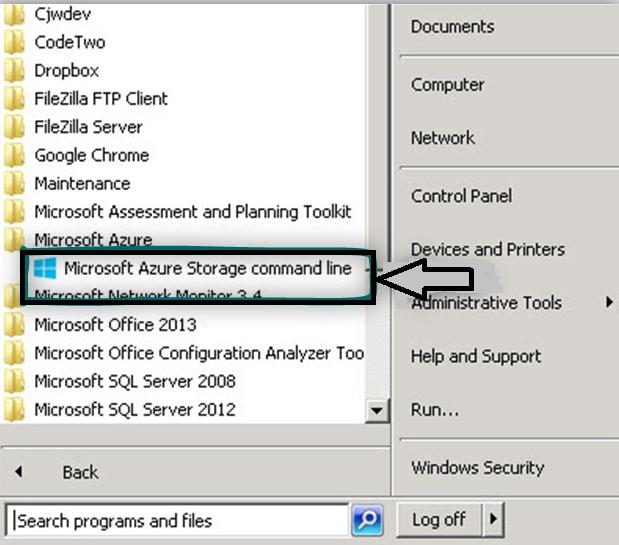 microsoft-azure-storage-command-line