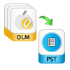 export multiple olm files