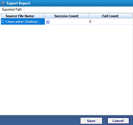 Export DBX to PST