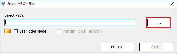 select mbox file