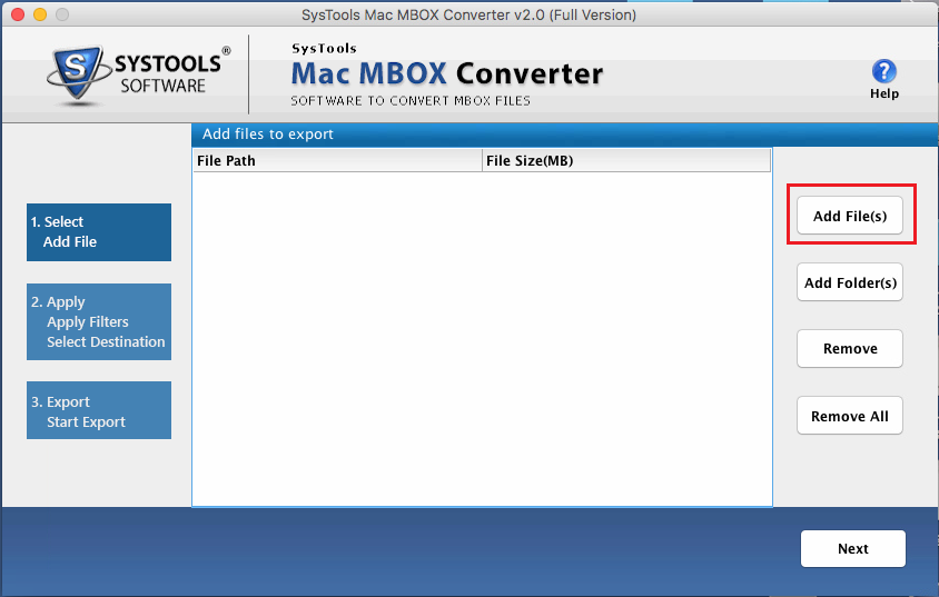 add mbox file