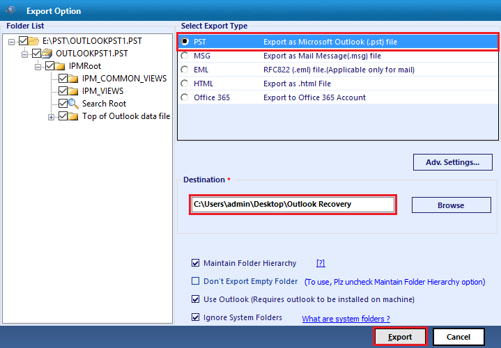 MS Outlook Recovery Tool to Repair Damaged PST File