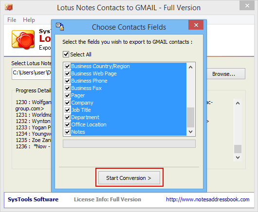 import gmail contacts